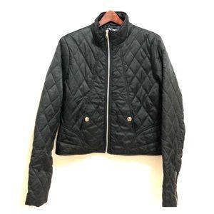 Ashley | Black Puffer Zip Up Jacket | XL